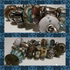 Textures.  Very pretty blue and brown Trollbeads