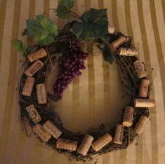 Wine Grapevine Cork Wreath Instructions