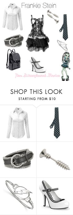 """Frankie Stein"" by disneybound-mexico ❤ liked on Polyvore featuring Canali, Forzieri, LogoArt, MonsterHigh, FrankieStein and monsterhighinspired"