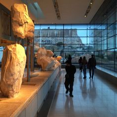 Acropolis museum, Athens, lights, reflections, architecture