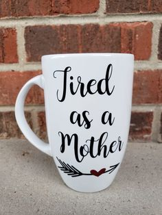 f999de899a8 Excited to share this item from my #etsy shop: Tired as a mother mug