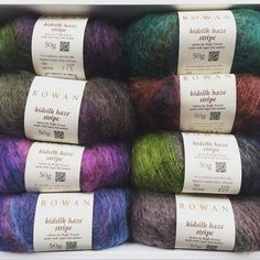 Our yarn has in it! These stripes have been designed by Kaffe Fassett! They are amazing to work with! Rowan Yarn, Exeter, Spin, Knit Crochet, Stripes, Knitting, Amazing, Instagram Posts, Design