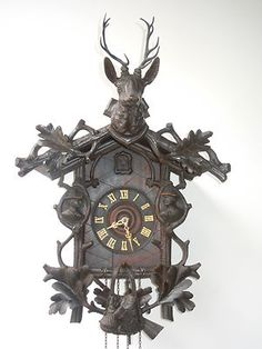 Unusual Cuckoo Clocks antique 1800′s black forest cuckoo clock #antiquecuckooclock