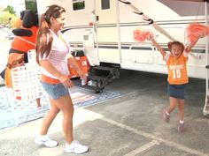 Tailgating sites are already busy. Vol fans tailgating RV style. #fanatics #UltimateTailgating