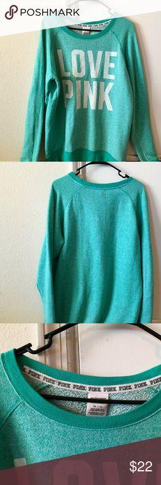 VS Pink Oversized Crewneck Sweatshirt Good pre-owned condition. PINK Victoria's Secret Tops Sweatshirts & Hoodies