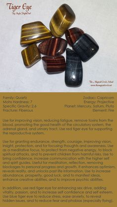 Tiger Eye - by Skyla NightOwl - The Magical Circle School www.themagicalcircle.net