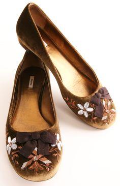 Velvet Ballet Flats ♡