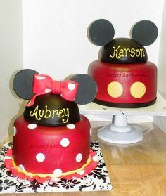 Minnie & Mickey Twin 1st Birthdays by Sweets By Monica