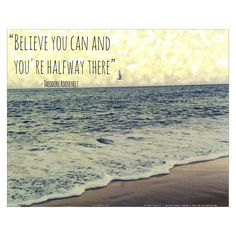 Believe you Can by Lisa Hill Saghini Unframed Wall Art Print : Target Beach Canvas Wall Art, Beach Art, Trying To Be Happy, Selfie Quotes, Positive Inspiration, Design Inspiration, Tumblr Quotes, Finding Peace, Happy Thoughts