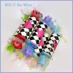 6 Alice in Wonderland  Cracker Snaps- Party-supplies- Favors-Birthday-Showers-Tea-Parties-Quinceanera