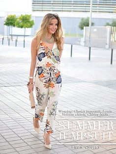 Shop Multicolor Wrap Plunge Floral Print Cami Jumpsuit from choies.com .Free shipping Worldwide.$15.9
