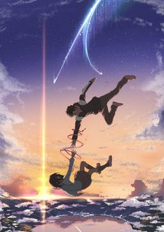 Your name wallpaper - Anime/Animation - Cosplay Anime, Anime Love, Anime Fan Art, Anime Art Fantasy, Kimi No Na Wa Wallpaper, Your Name Wallpaper, Music Wallpaper, Trendy Wallpaper, Anime Pokemon