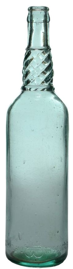 Watson, West Maitland. Barley twist neck. Crown Seal Cordial bottle. c1920s.