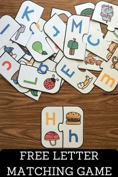 Free Printable Letter Matching Game -Upper and Lower Case