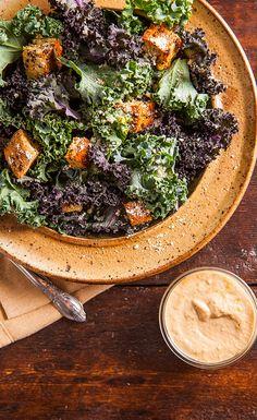Superfood Kale Caesar Salad Recipe