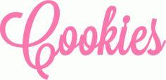 cookies script lettering title