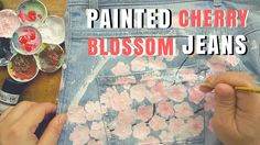 DIY : Transform Jeans with Paint ( Cherry Blossoms / Sakura )