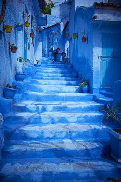 This Moroccan City Is Completely Covered in Ethereal Blue Paint