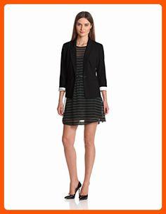 697e37f7f304 Kensie Women's Stretch Crepe Blazer, Black, X-Small - All about women (