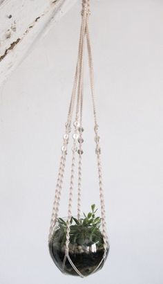 Yea baby, Macrame....Back in  the 70's I used to make Plant holders, Hanging end tables, and the list goes on. I need to find some of my pics and post!