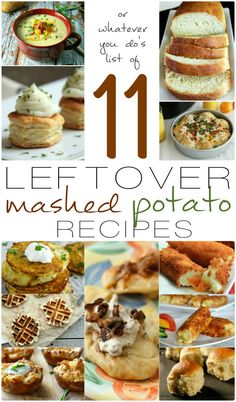 11 Leftover Mashed Potato Recipes