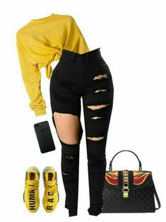 baddie outfits with white jeans Swag Outfits For Girls, Cute Swag Outfits, Teenage Girl Outfits, Teenager Outfits, Trendy Outfits, Baddie Outfits Casual, Boujee Outfits, Teen Fashion Outfits, Polyvore Outfits