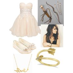 goddess of love by thebrokendoll on Polyvore featuring polyvore fashion style Chi Chi Accessorize Allurez Minnie Grace