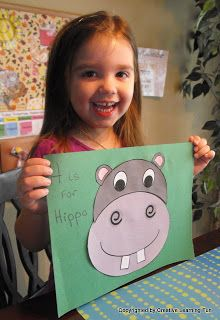 Craft - Letter H - Hippo (Pre-cut pieces)