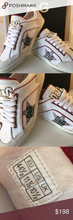 ⭐️D&G MENS SNEAKERS 💯AUTHENTIC D&G DOLCE & GABBANA MENS SNEAKERS 100% AUTHENTIC. TRUE HIGH END LUXURY STYLE ! THESE ARE GREAT SHOES ONLY WORN A FEW TIMES! THEY ARE WHITE, RED AND BLUE. I PURCHASED THEM AT THE DOLCE & GABBANA BOUTIQUE IN MILAN ITALY A COUPLE YEARS AGO. THE ARE A AMERICAN SIZE 11.5. THEY COME WITH THE ORIGINAL D&G DUST BAG D&G Shoes Sneakers