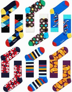 Brilhos da Moda: Meias Happy Socks Outono Inverno