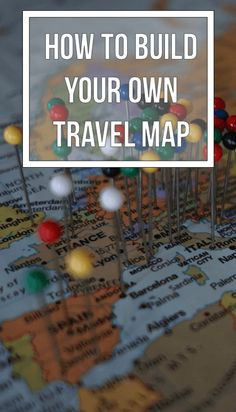 Build Your Own Travel Map Pin.. detail!