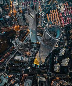 Futuristic City, Futuristic Architecture, Amazing Architecture, Shanghai Tower, Shanghai City, Federation Tower, Shanghai World Financial Center, World Finance, Art Deco Buildings