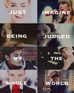 Miley Cyrus, Taylor Swift, Rihanna, Selena Gomez, Justin Bieber, Eminem, Justin Timberlake and Bruno Mars