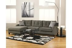 Ashley Furniture Siroun Steel 2 Piece Sectional Left Facing Chaise End at Big Sandy Superstore Ottoman In Living Room, Living Room Sectional, Living Room Furniture, Living Room Decor, Dining Rooms, Tufted Sectional, Chaise Sofa, Furniture Depot, Furniture Sale
