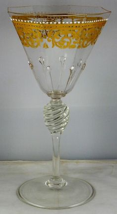 Vintage Murano glass water goblet by Salviati