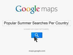 Google Mostra Le Ricerche dei Viaggiatori su Maps In Estate nell'Emisfero Settentrionale. by Eugenio Agnello, via Slideshare