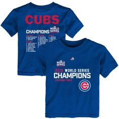 Chicago Cubs Majestic Toddler 2016 World Series Champions Sweet Line Up T-Shirt - Royal - $19.99