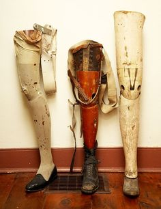 Interesting prosthetic limbs.  These seem much better than peg legs!