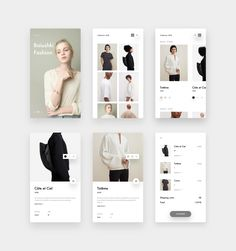 Minimal Fashion app designed by Nicola Baldo. Connect with them on Dribbble; Mobile Ui Design, Design Café, Web Ui Design, Logo Design, Flat Design, Interface Web, Interface Design, Websites Design, Portfolio Design