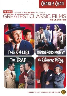 Four classic stories about legendary Chinese detective Charlie Chan on four DVDs. In DARK ALIBI, Charlie Chan (Sidney Toler) re-examines fingerprint evidence to help clear an accused bankrobber at the