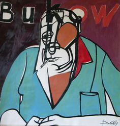 Ritratto di Charles Bukowski. Portrait of Charles Bukowski. 1997. Gabriele Donelli