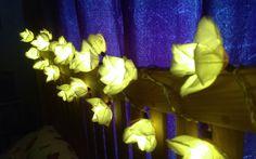 Blaze On Fairy Lights Review. Blaze On Chelsea Rose White Bouquet Fairy Lights Review #Interiors #Decoration