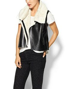 FRENCH CONNECTION Mika Shearling Vest #refinery29