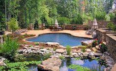 A picture of a beautiful pool Marietta GA.    -The KormendyTrott Team - Century 21 Miller Real Estate Oakville