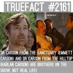 "6,963 curtidas, 71 comentários - If I Posted It... It's true. (@twdtruefacts_) no Instagram: ""They're Brothers! #TWD #TheWalkingDead #WalkingDead #DrCarson"""