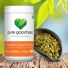 Meet our Pure Goodness Pumpkin Seed Protein. We harvest our pumpkin seeds straight from small farms in Styria, Austria, which are known for their superior nutrient-rich pumpkin seeds. Our Pumpkin Seed Protein is packed with 15 grams of plant-based protein and is non-GMO verified, gluten, soy and dairy free as well as vegan and paleo-friendly! It also contains absolutely no artificial ingredients or additives. Try it now at www.mypuregoodness.com #mypuregoodness