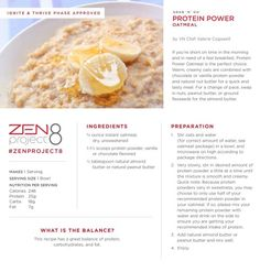 Zen style IGNITE/THRIVE approved PROTEIN OATMEAL