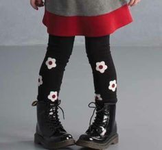 Biscotti Precious Black Flower ``School of Rock`` Leggings