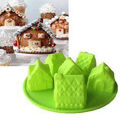 c6a9ba481 XUEXIN House silicone cake mold 6 even villa modeling silicone cake mold  DIY baking mold -