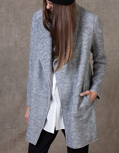 At Stradivarius you'll find 1 Woollen waterfall coat for woman for just 169.95 TRY . Visit now to discover this and more COATS.
